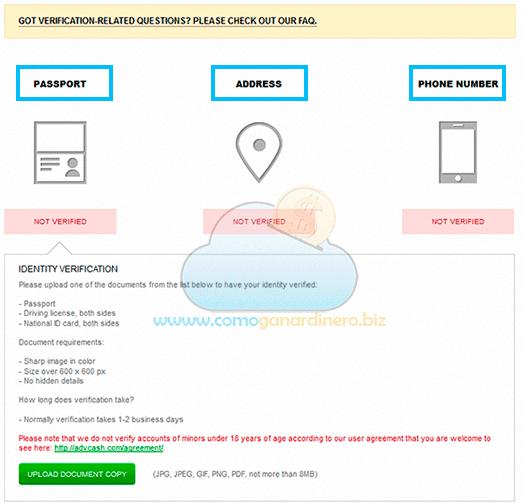 Verificar cuenta ADV 3