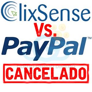 PayPal cancelado de Clixsense