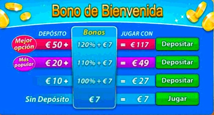 Bono de bienvenida de Gratorama para ganar 7 Euros