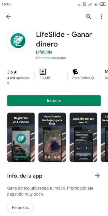 App de lifeslide