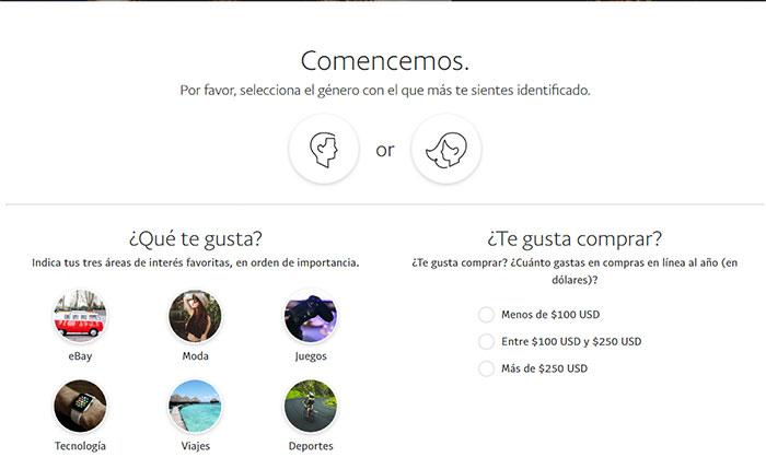 5 registrarse en Paypal