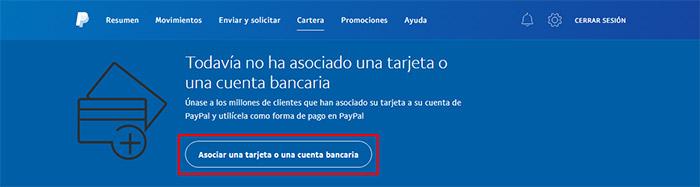 8 como asociar una cuenta o una tarjeta a Paypal