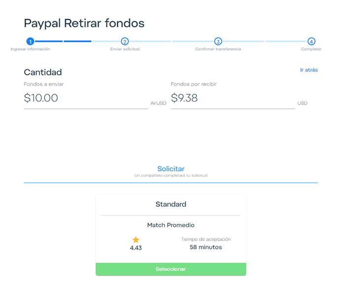 6 enviar dinero de Airtm a Paypal