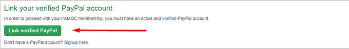 3 Asociar una cuenta Paypal verificada InstaGC